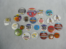 WAFFLE HOUSE COLLECTIONS OF 32 BUTTONS AND PINS