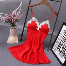 Sexy Lingerie Women Silk  Robe Dress Babydoll Nightdress Nightgown Sleepwear