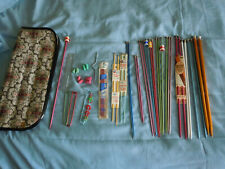 Lot Of Knitting Needles Case 1 Set Double Point Counters, Holders, Protectors