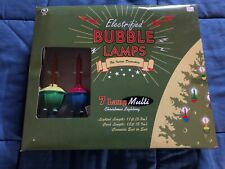 Christmas Bubble Lights - Set of 7 Multi-Color - Original Package - Indoor
