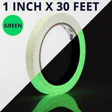 Glow Tape - 1 Inch x 30ft Vinyl Adhesive Glow-in-The-Dark Tape Roll - Lasts Up t