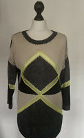 RIVER ISLAND JUMPER, BLACK, CREAM, GUNMETAL, NEON, OPEN KNIT, UK 10