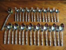 BRONZE CUTLERY - BAMBOO DESIGN - 33 PCS 8 PLACE 'EASTERN' STYLE SETTING (S-E1)