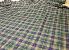 Glens of Corbie Tartan Fabric Plaid Check 10oz 100% Pure Wool Made in Scotland