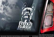 French Bulldog - Car Window Sticker - Dog Sign -V02