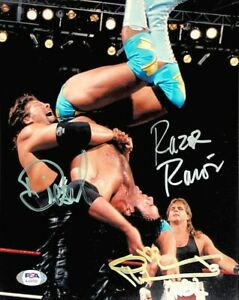 WWE SHAWN MICHAELS RAZOR DIESEL HAND SIGNED AUTOGRAPHED 8X10 PHOTO WITH PSA COA