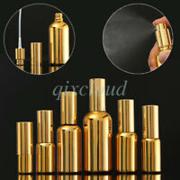 Empty Chrome Gold 10ml 20ml 50ml 100ml Mist Pump Spray Glass Bottles Sprayer