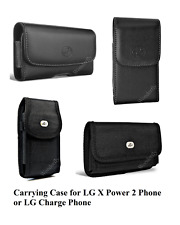 """Pouch for LG X Power2 or X Charge (5.5"""") phone with a protective case on it"""