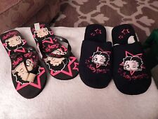 Betty Boop slippers and flip flop set in Original Bag size 11/12 Cool footwear!!