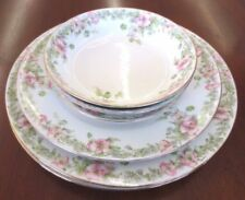 Vintage WM Guerin & Co WG&C Pink Hibiscus Daisy GUE196 Pattern Dish Lot of 6