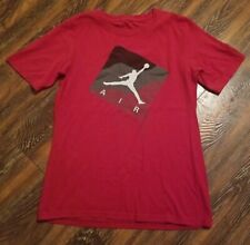 Air Jordan T-Shirt Red White Jumpman Short Sleeve Boys Size Youth Large 12-14