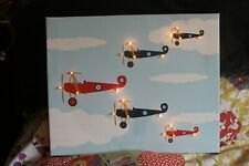 Aeroplane, plane , sky LED Illuminated light up canvas