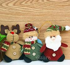 "3pcs Cute 6"" Hanging Christmas Decorations Ornament Reindeer Deer Snowman Santa"