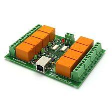 PC USB Scheda Otto (8) Canali Relè (JQC-3FC/T73) 12V + Software