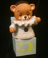 Veg 1985 Porcelain Willitts Designs Nursery Light Jack in Box Teddy Bear Jester