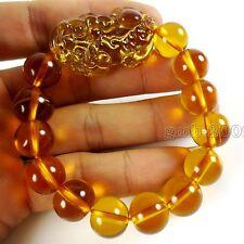 Feng Shui Topaz Citrine Yellow Crystal Pi Yao Pi xiu xie Bracelet For Wealth