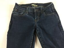 Old Navy Skinny Jeans Womens 0 The Diva Dark 27 x 30 Actual Denim Pants Zip Fly