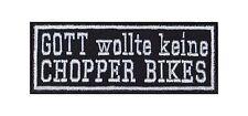 Dio non voleva Chopper Moto Biker Heavy Rocker PATCH RICAMATE immagine di staffa