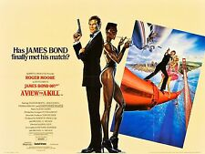 VIEW TO A KILL '85 UK Quad Roger Moore Grace Jones James Bond 007 filmartgallery