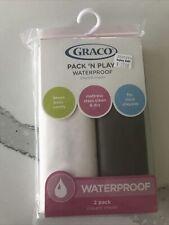 Graco Pack N Play Waterproof Sheets: 2 Pack Brown and Cream