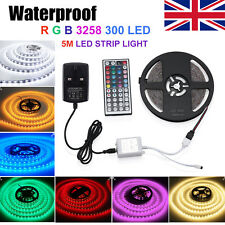 5m 300 LED 3528 RGB SMD Waterproof Strip Light 12v Remote Controller Adapter