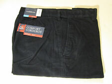 40 X 34 EXPANDABLE WAIST FLAT FRONT CROFT & BARROW CORDS -NAVY BLUE- NWT
