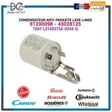 Condensateur anti-parasite Lave-linge - 91200098 Candy Hoover Rosieres Baumatic