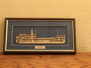 Vintage 3D Framed Wood Section Model of Wapama Steam Schooner Ship (final price)