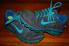 Women's Nike Air Max+ 2011 Dark Gray Moon Blue Running Sneakers (7.5) 429890-043
