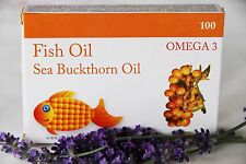 Fish Oil & Sea Buckthorn oil - 100 capsules. Omega-3 Vitamins & Minerals EPA&DHA