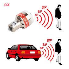 2x LED REVERSE ALARM LIGHT Car Back Up BEEPER Car WARNING ALERT LED Bulbs 12V