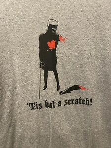Men's Monty Python Grail Its Just A Flesh Wound Graphic Tee Large