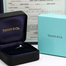 Tiffany & Co. Verlobungsring Platin 950-Gr.49 - Box & Zertifikat 0,22 ct - VVS2