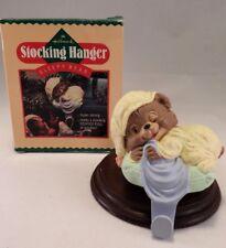 Hallmark 1986 Stocking Holder Hanger Sleepy Bear In Box