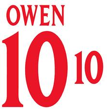 England Owen 2000 Nameset Shirt Soccer Number Letter Heat Print Football H