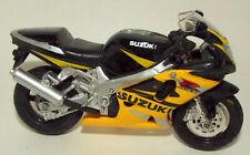 Maisto Die Cast Suzuki Motorcycle in Yellow & Black