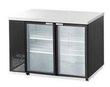Maxximum Mcbb70-2Bg, 23-Cu.Ft. 2 Section Glass Back Bar Cooler