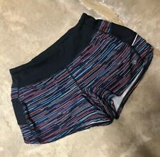Athleta Shorts Womens Navy Blue Striped Lined Athletic Size XS