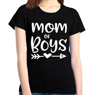 Mom of Boy Women's T-Shirt Mother's Day Family Love Mom Gift Shirts