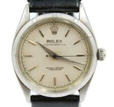 Rolex Oyster Perpetual 1956 Ref. 6565 Stainless Steel Watch Engine Turned Bezel