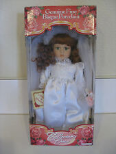 Dandee Dan-Dee Bisque Porcelain Doll Bride in Wedding Gown w/Coa & Org Box
