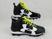 NEW UNDER ARMOUR UA CRUSHER RM FOOTBALL SHOES SZ 16 BLACK 128660 001 YELLOW
