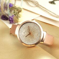 Luxury Fashion Women PU Leather Casual Watch Analog Quartz Crystal Wristwatches