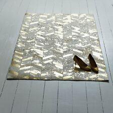 Bunkar Handmade Leather Cowhide Rug 'metallic Gold' 5'x7' 150cm X 210cm L Area
