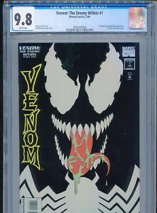 1993 MARVEL VENOM: THE ENEMY WITHIN #1 GLOW-IN-THE-DARK COVER CGC 9.8 WHITE BOX1