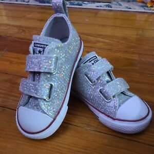 Converse Chuck Taylor All Star 2V Ox Toddler's Shoes Mouse-Enamel Red 763551C