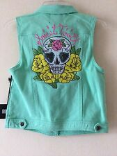 Iron Fist Sweet Tooth Denim Vest Jacket Brand New! Small RARE! Reduced Last One