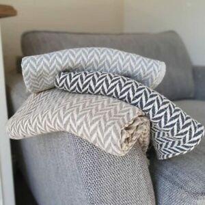 Eco-Friendly Cotton Throw Blanket - Taupe