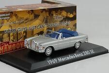 1969 Mercedes-Benz 280 SE W111 Cabriolet silver Movie Hangover 1:43 Greenlight