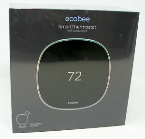 Brand New & Sealed ecobee SmartThermostat with Voice Control Black EB-STATE5-01
